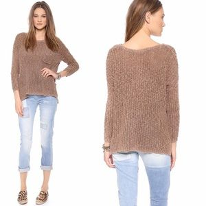 Free People Greenwich Pullover Taupe Sweater Xs